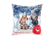 Dekorační polštář soft, polyester, Čarovná zima, 38x38 cm