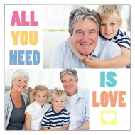 Fotopanel, All you need is love, 30x30 cm