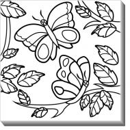 Obrazy, Motýle + farby, 30x30 cm