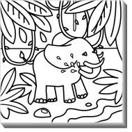 Obrazy, Slon + farby, 30x30 cm