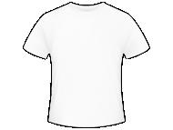 Tričko pánska, Prázdna šablóna