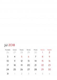 Kalendár, Prázdna šablóna, 30x40 cm