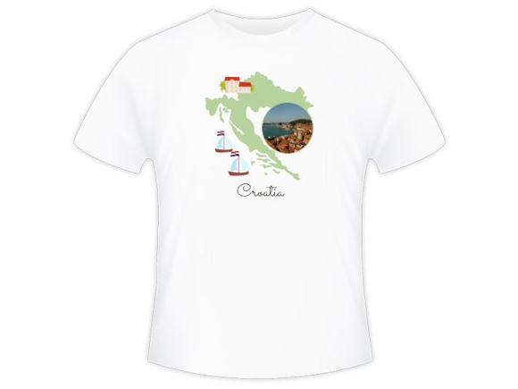 Tričko pánska, Chorvátsko
