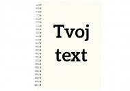 Zošit Tvoj text mriežka, 15x21 cm