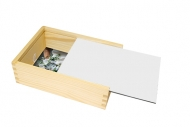 Drevená krabička, Prázdna šablóna, 12x17 cm