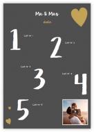 Plagát, Zoznam svadobných hostí, 50x70 cm