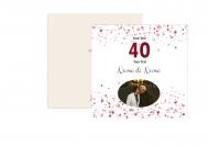 Fotopriania Z príležitosti 40. výročia sobáša, 14x14 cm