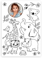 Plagát, Omaľovánka - Zvieratká , 30x40 cm