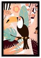 Plagát v ráme, Tukan- čierny rámik, 20x30 cm