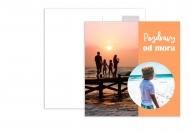 Fotopriania Pohľadnice - Prázdniny pri mori, 14x14 cm