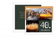 Fotopriania 40. narodeniny , 14x14 cm