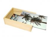 Drevená krabička, Palmy, 12x17 cm