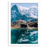 Plagát v ráme,  Alpy, 20x30 cm