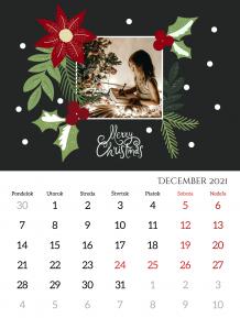 Kalendár, Elegantný Šťastný Nový rok, 30x40 cm