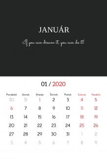 Kalendár, Typografický, 20x30 cm