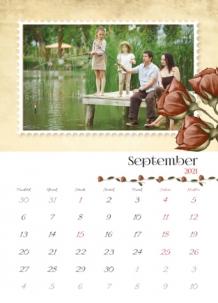 Kalendár, Vintage, 20x30 cm