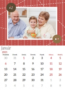 Kalendár, Milovaným prarodičom, 20x30 cm