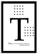 Plagát v ráme, Typografický plagát pre Tatina, 20x30 cm