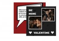 Fotopriania Be mine Valentine, 14x14 cm