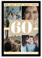 Plagát v ráme, Plagát k 60. narodeninám - čierny rámik , 20x30 cm