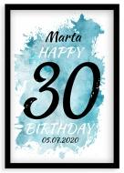 Plagát v ráme, Plagát k 30tým narodeninám - čierny rám, 20x30 cm