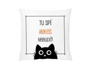 Vankúšik, bavlna, Nebudiť - čierna mačka , 38x38 cm
