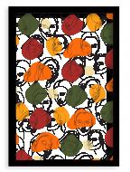 Plagát v ráme, Women II - čierny rámik, 20x30 cm