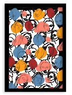 Plagát v ráme, Women - čierny rámik, 20x30 cm