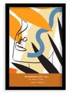 Plagát v ráme,  Jednoduche - čierny rámik, 20x30 cm