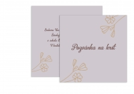 Fotopriania Pozvánka na krstiny - kvetinový vzor pre dievčatko , 14x14 cm