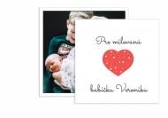 Fotopriania Pre milovanú babičku, 14x14 cm