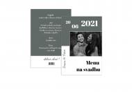 Fotopriania Menu na svadbu , 15x20 cm