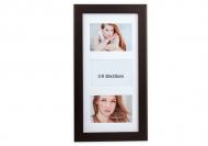 Fotorámček 3 fotografie čierny, 20x42 cm