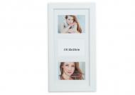 Fotorámček 3 fotografie biely, 20x42 cm