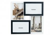 Fotorámček Pre 4 fotografie čierno-biely, 29x29 cm