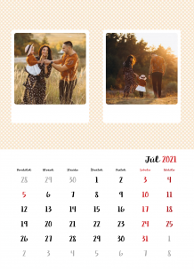 Kalendár, Vaše fotky z Instagramu, 30x40 cm