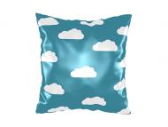 Vankúšik, bavlna, S hlavou v oblakoch, 25x25 cm
